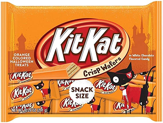 Amazon Com Kit Kat Orange Colored Halloween Treats Snack Size Candy 10 29 Oz Grocery Gourmet Food