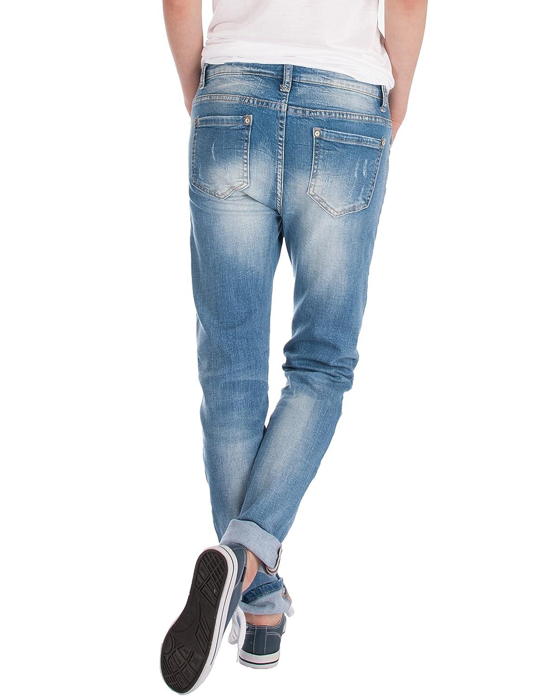 Fraternel Pantalones Vaqueros mujer boyfriend usado