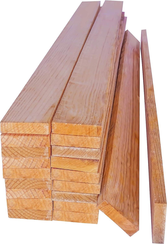 Listones de Madera de Pino. 20 Tablas Macizas de 1 metro con acabado en crudo. Natural. Para hacer Palets, Bricolaje, Decoracion, Manualidades, Exterior, Encofrar, Obra.