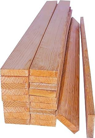 Listones de Madera de Pino. 20 Tablas Macizas de 1 metro con acabado en crudo. Natural. Para hacer Palets, Bricolaje, Decoracion, Manualidades, ...