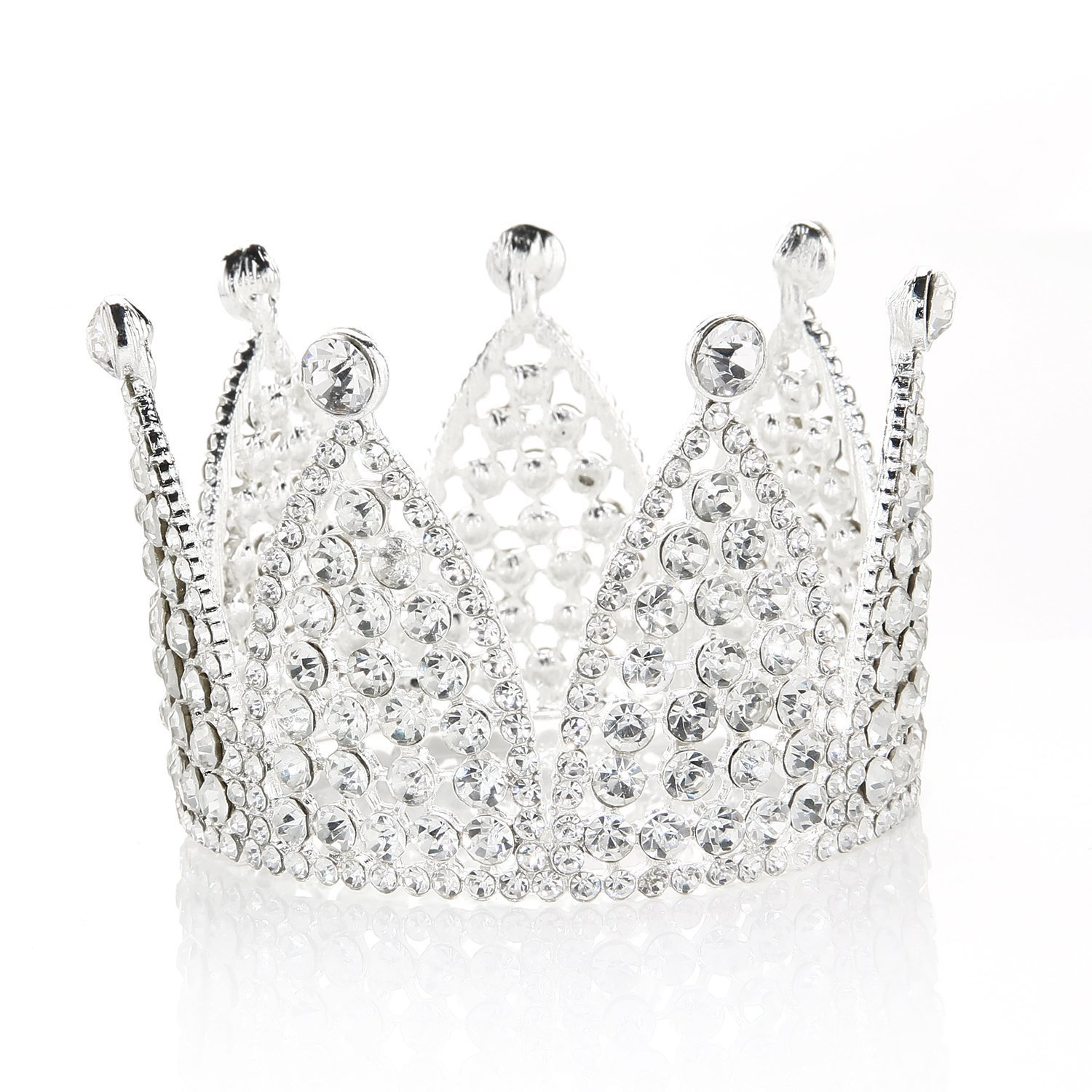 Rhinestone cake topper crown