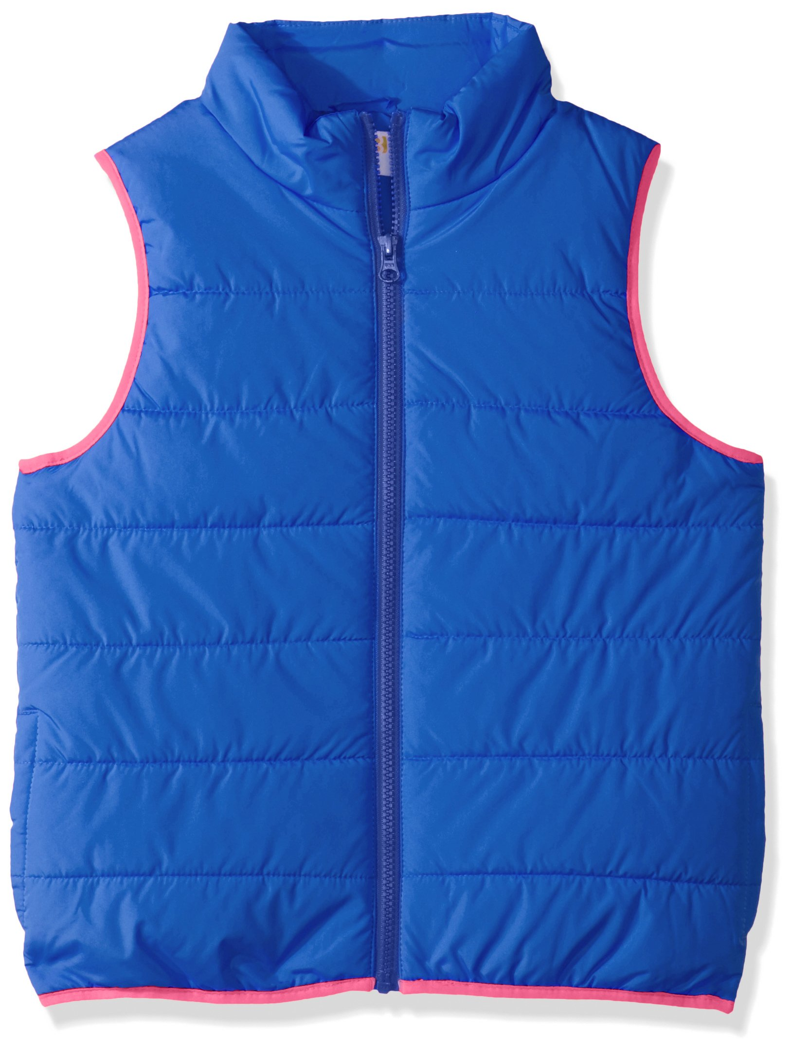 Crazy 8 Little Girls' Puffer Vest, Beach Glass, M