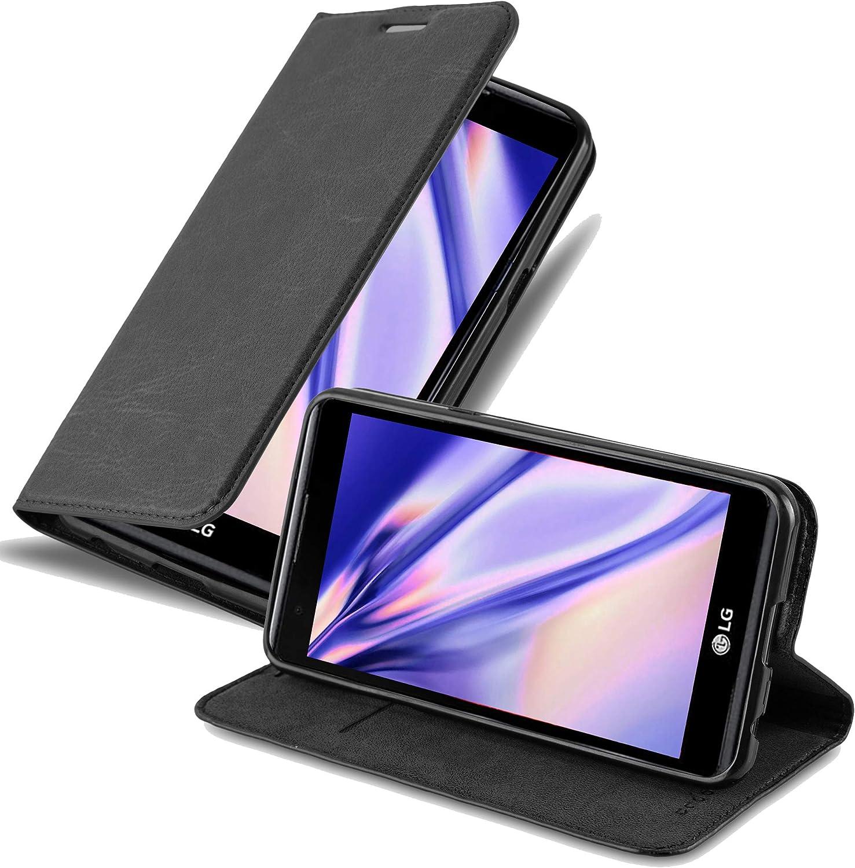 Cadorabo Funda Libro para LG X Power en Negro Antracita – Cubierta ...