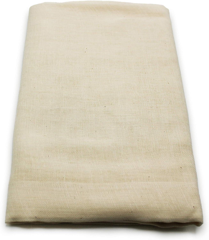 Unbleached Grade 90 Cheesecloth | 1 Yard, Ultra Fine-Mesh, Food-Grade Cheesecloth | Cheesecloth for Cooking, Straining Cheese, Nut Milks, Bone Broth, Infusions, Tea, etc.