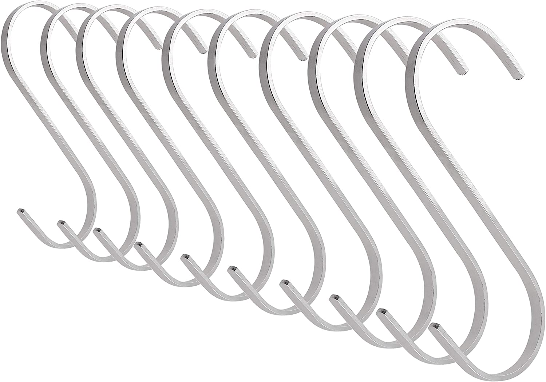 10Pcs Metal S Shaped Hooks Bathroom Kitchen Coat Multifunction Storage Hooks A++