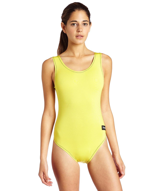 AeroskinポリプロピレンレディースOne Piece Swim Suit inソリッド色 B003TW5A4M Large イエロー