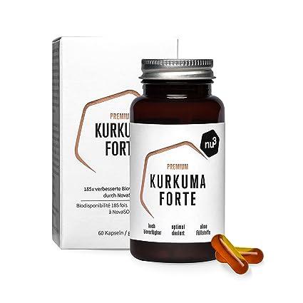 NU3 – Cúrcuma Forte Premium   60 cápsulas   Curcumina Novasol® con una biodisponibilidad 185