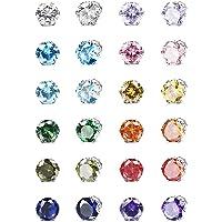 ORAZIO 12 Pairs Magnetic Stud Earrings for Men Women Non-piercing Rhinestone Magnet Earrings Stainless Steel Magnetic…