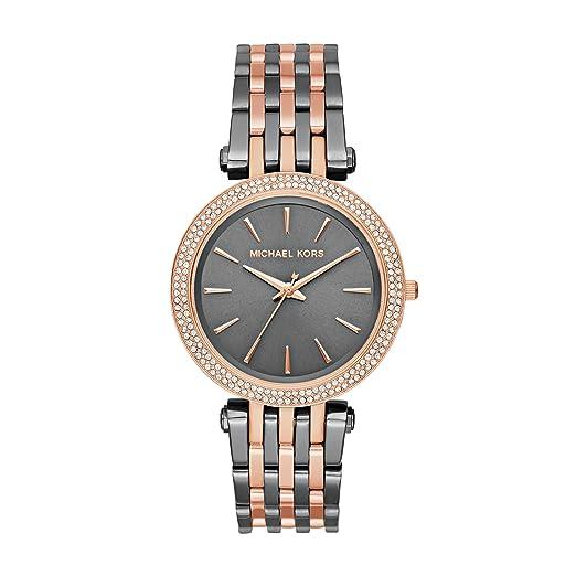 Michael Kors Reloj Mujer de Analogico con Correa en Chapado en Acero Inoxidable MK3584: Amazon.es: Relojes