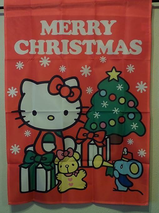 Hello Kitty Merry Christmas.Amazon Com Hello Kitty Merry Christmas House Flag 28 X