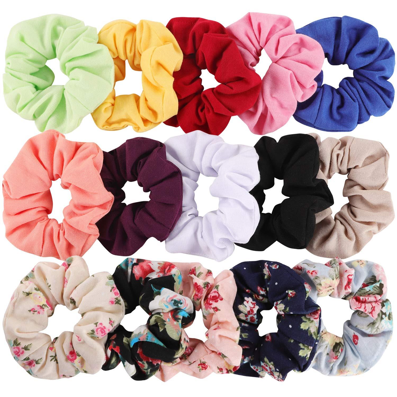 Pink Cotton Scrunchie Cotton Hair Tie Pink Bow Scrunchie