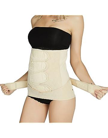 Gaine post partum avec ceinture pelvis bassin - Amincissante, ventre plat -  Coton - 741693eb411