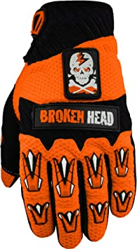 Mountainbike Orange Broken Head MX-Handschuhe Faustschlag Gr/ö/ße XS Enduro Motorrad-Handschuhe F/ür Motocross