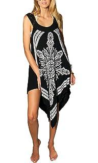 f5c967ffbbc INGEAR Bohemian Sundress Crochet Casual Summer Beach Handkerchief Hippie  Relaxed Dress