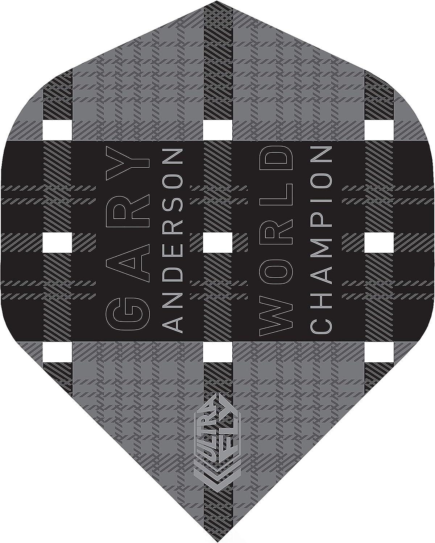 Unicorn Gary Anderson Black World Champion Ultra Fly.100 Big Wing Shape Flights 1 Set 3 Fl/ügel