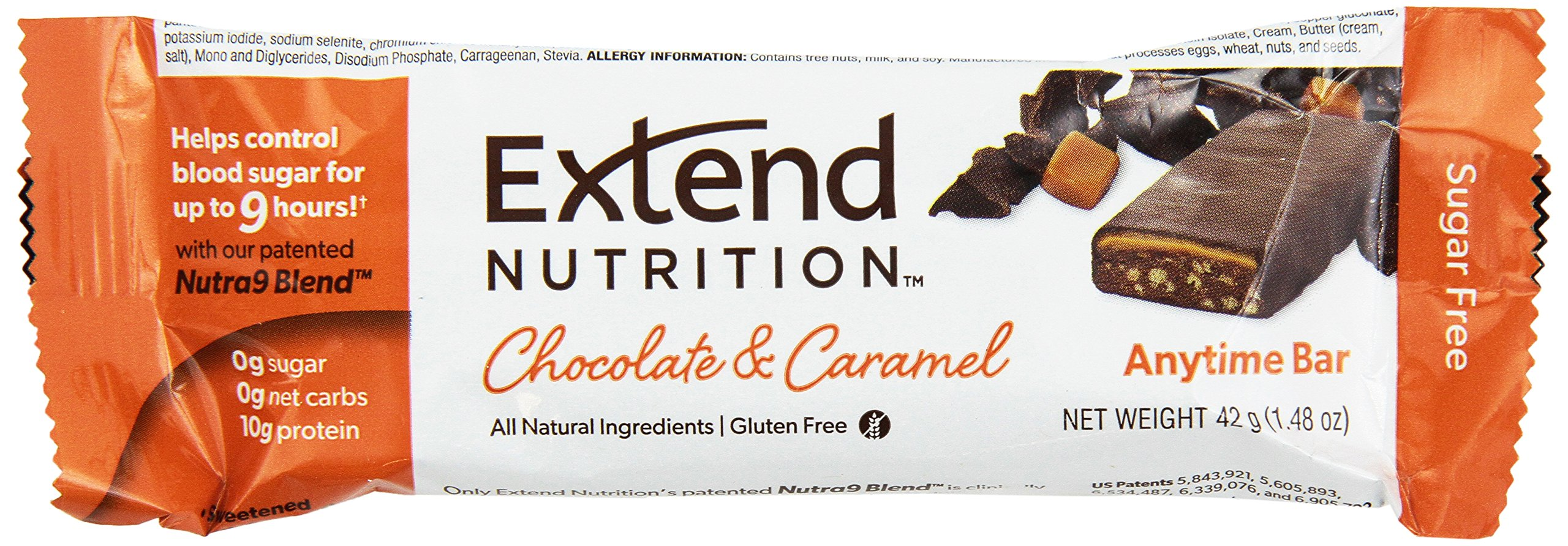 Extend Bar, Chocolate & Caramel, 1.48 oz. Bars (Pack of 15) by Extend