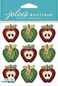 Jolee's Boutique Dimensional Stickers, Apples Repeats