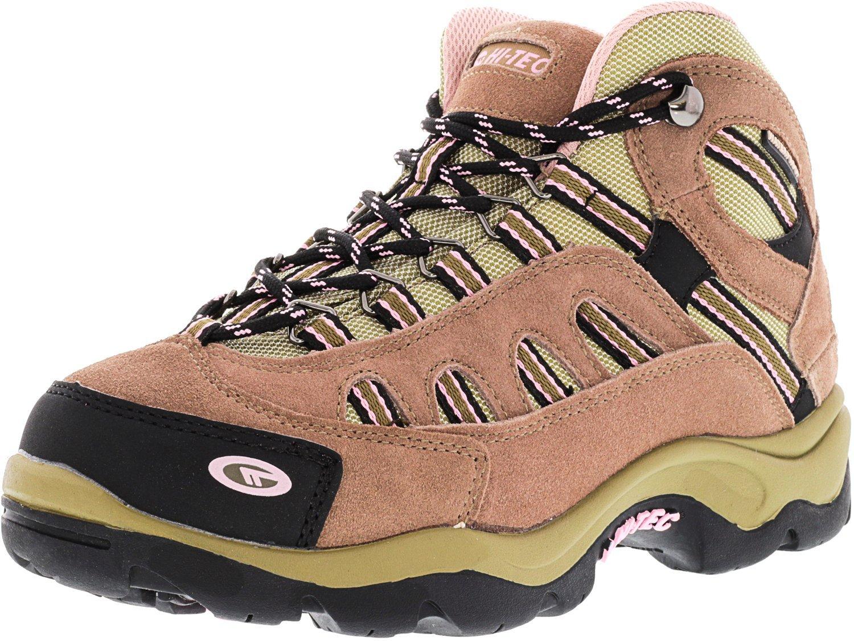 Hi-Tec Women's Bandera Mid Waterproof Taupe/Blush Mid-Top Suede Hiking Boot - 6M