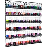 AMT 6 TIER Metal Nail Polish Racks- Up To 108 BOTTLES, Clear Nail Polish Display for The Wall, Young Living Essential…