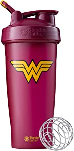 BlenderBottle Justice League Shaker Bottle, 28 Ounce, Wonder Woman