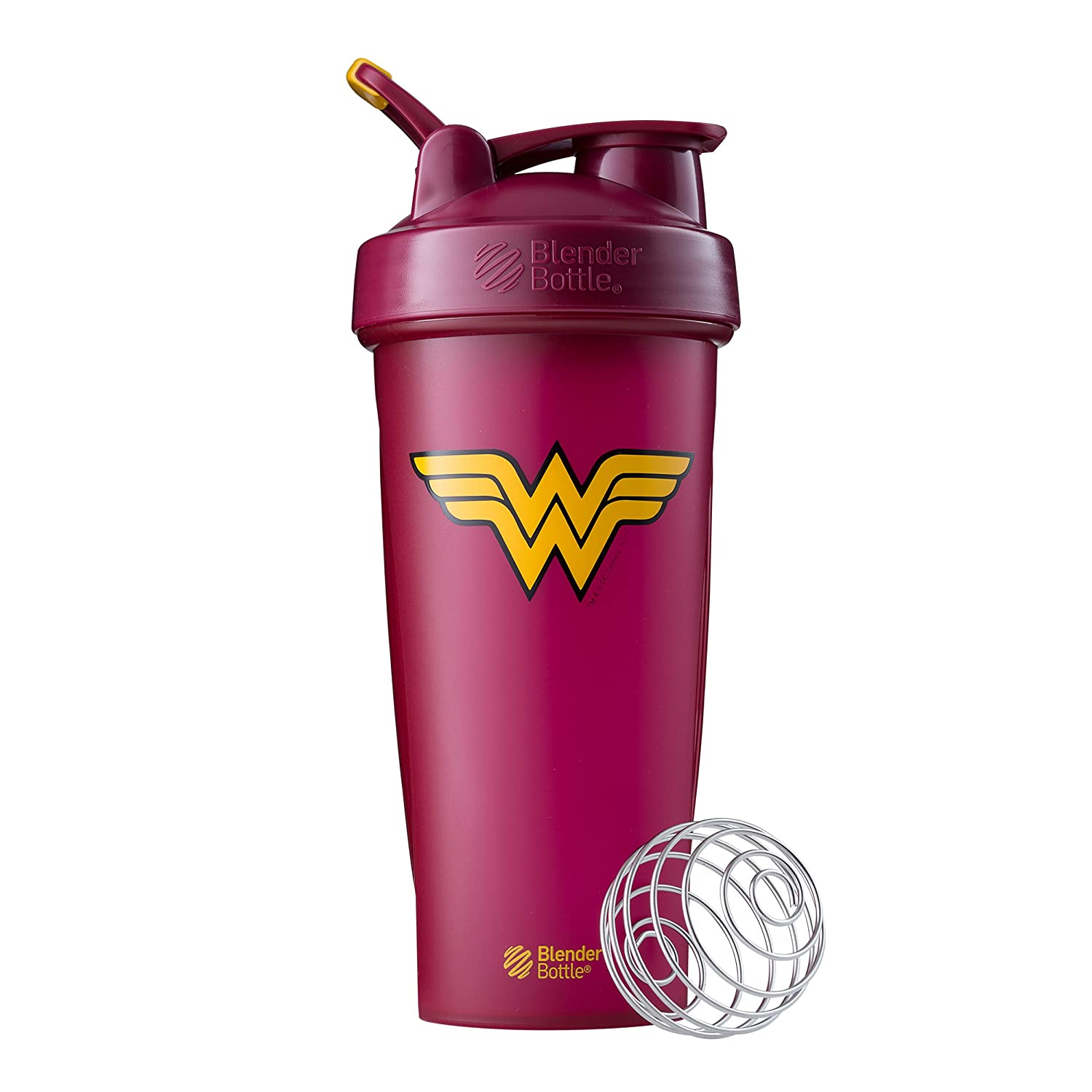 BlenderBottle Justice League Superhero Classic 28-Ounce Shaker Bottle, Wonder Woman