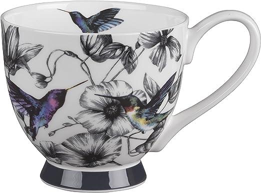 Portobello CM06357 Butterfly Flora Bone China Footed Mug