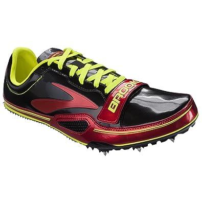 Brooks Herren Laufschuh Sprintschuh Spikeschuh Leichtathletik Schuh PR Farbe Rot Schwarz