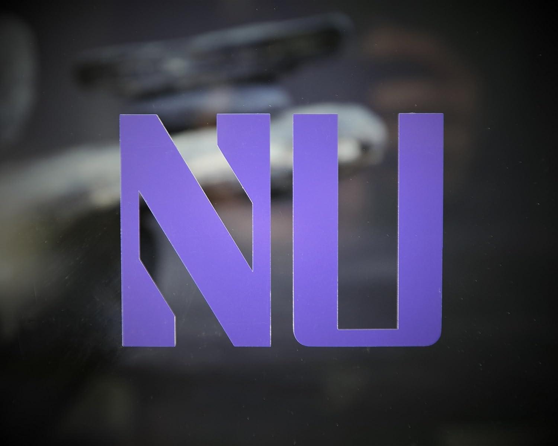 """Set of (2) """"NU"""" Northwestern University 4"""" Die-Cut Vinyl Decal or Laptops, Yeti, Gear."""