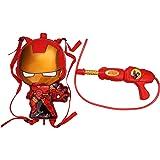 Toyshine Startoys Holi Water Gun with High Pressure, Back Holding Tank, 2.5 L, Iron Man, Red