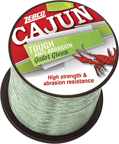 Cajun Line Zebco Cajun Low-Vis Fishing Line 1 4- Lb Test Spool 25 Lb Test Low-Viz Ragin Red, 25 lb