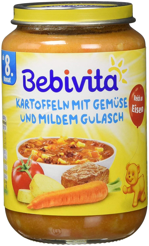 Bebivita Kartoffeln mit Gemü se und mildem Gulasch, 6er Pack (6 x 220 g) 1048 Babynahrung