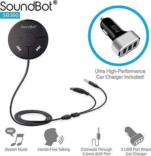 SoundBot SB360 Bluetooth 4.0 Car Kit