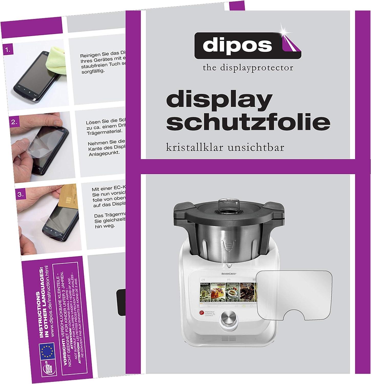 dipos I 2X Protector de Pantalla Compatible con SilverCrest Monsieur Cuisine Connect pelicula Protectora Claro: Amazon.es: Electrónica