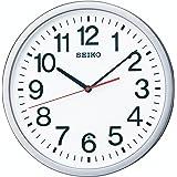 セイコー クロック 掛け時計 電波 アナログ オフィスタイプ 銀色 メタリック KX229S SEIKO