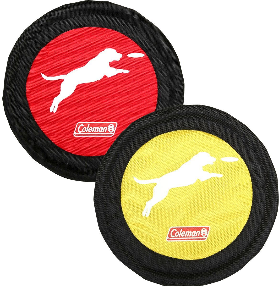 Coleman Dog Flying Disc Frisbee, Red/Yellow' by Coleman