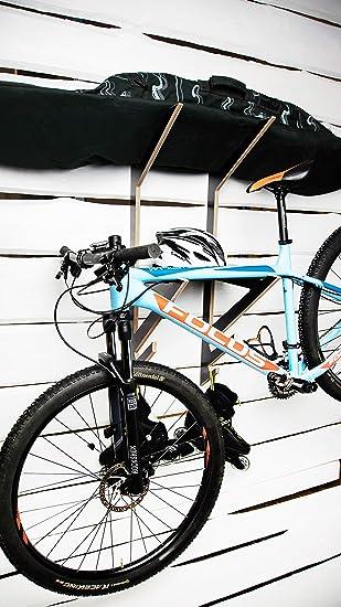 AKR - Soporte de pared para casco de esquí (madera), color negro: Amazon.es: Deportes y aire libre