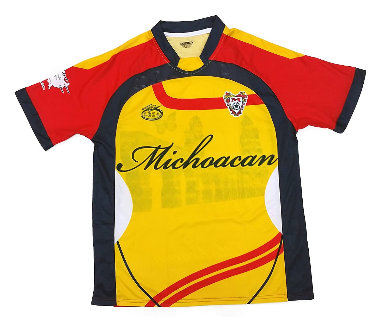 Amazon Michoacan Mexico Soccer Jersey Color Yellow And Red Arza