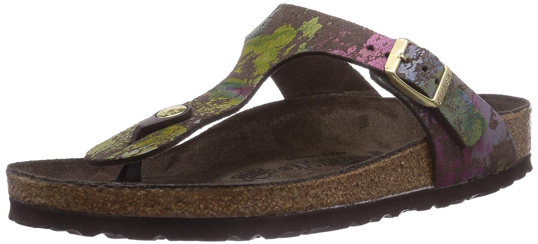 Birkenstock Gizeh, Sandalias para Mujer 36.5 EU|Multicolor (Flower Crush Mocca)