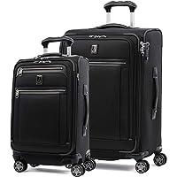 Travelpro Platinum Elite Softside Expandable Spinner Wheel Luggage, Shadow Black, 2-Piece Set (21/25)