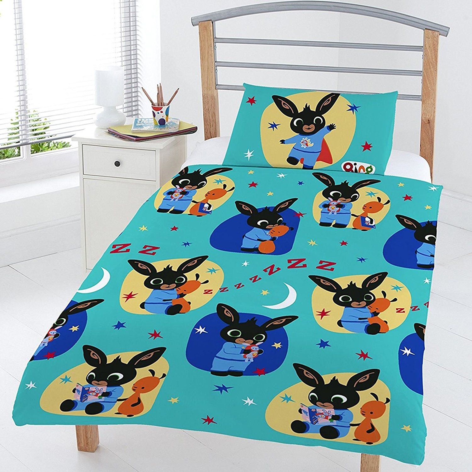 Bing Bunny Bedtime Junior Duvet Set, Polyester-Cotton, Multi, Full Dreamtex Ltd JR1-BIN-BED-12