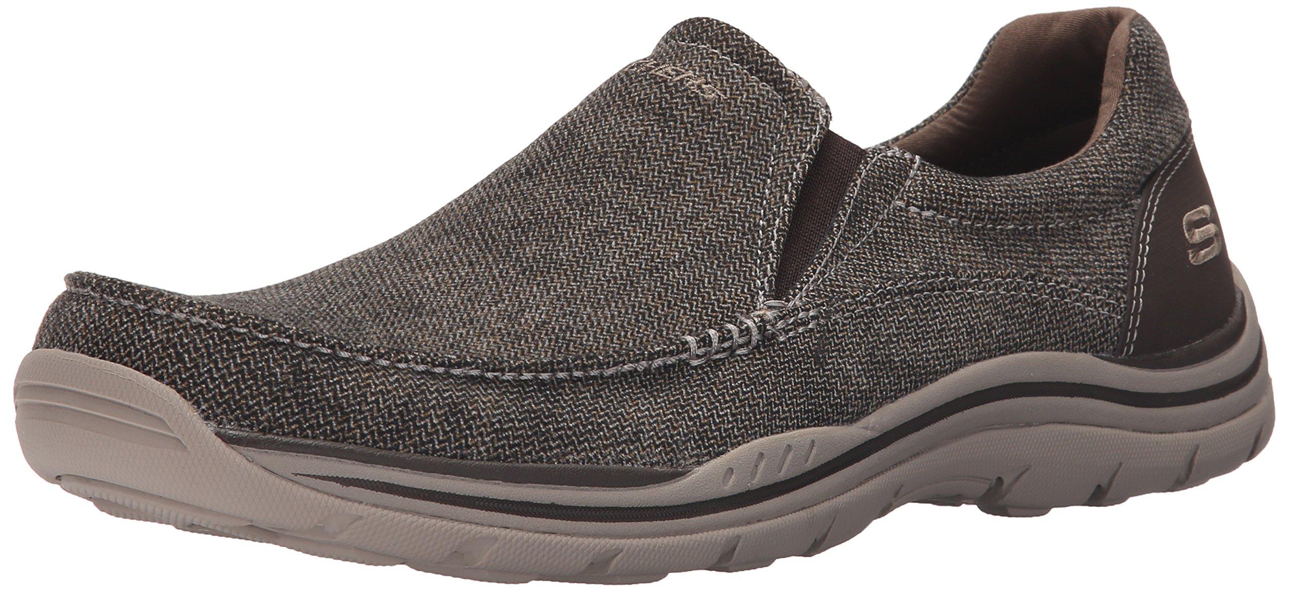Skechers USA Men's Expected Avillo Relaxed-Fit Slip-On Loafer,Dark Brown,12 M US by Skechers