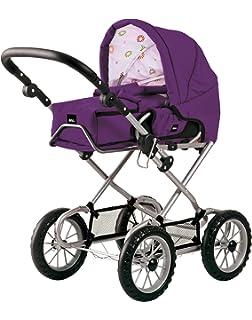 Babypuppen & Zubehör grau mit Punkten BRIO Puppenwagen Combi