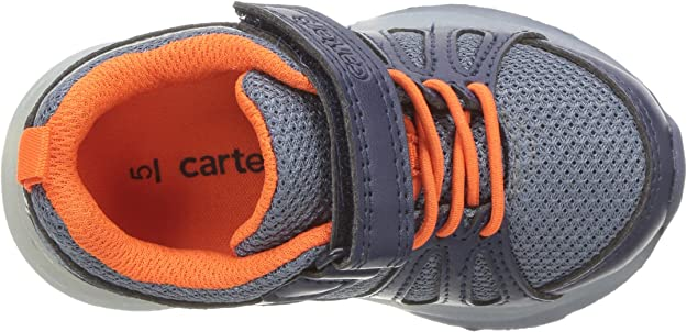 Carters Kids Shelby Little Boys Light Sneakers Shoes Navy Toddler New