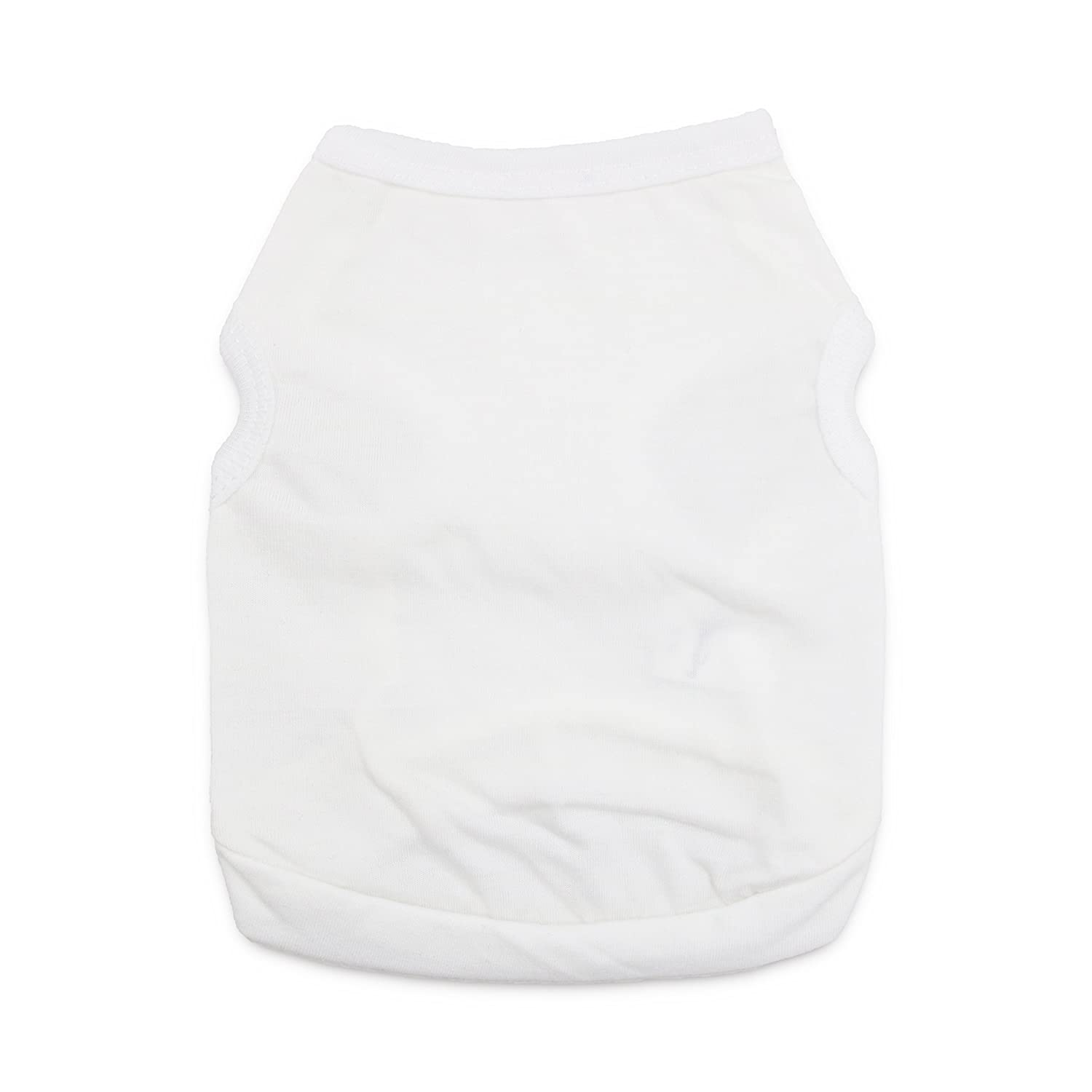 DroolingDog Pet Dog Clothes White Dog T-Shirt Medium Cat Clothes for Small Dogs, Medium, White