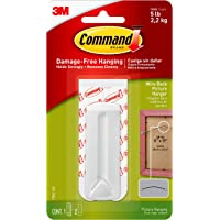 Command Wire-Back Frame Hanger, 5 lb Capacity, Decorate Damage-Free, Indoor Use (17041-ES),White