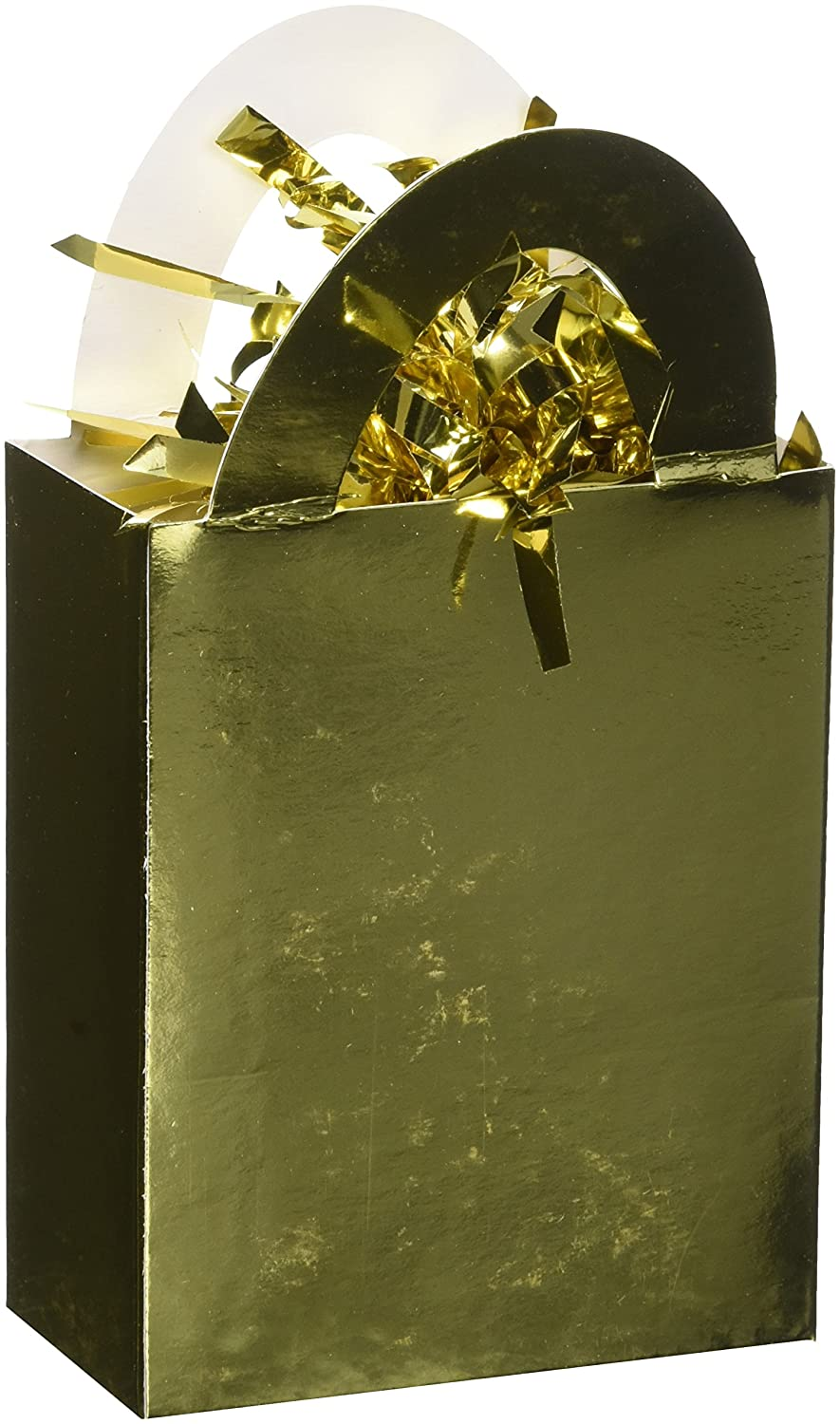 (Gold) - Amscan Mini Tote Balloon Weight Gold Party Decor 12 Ct.  ゴールド B077FN9HX3