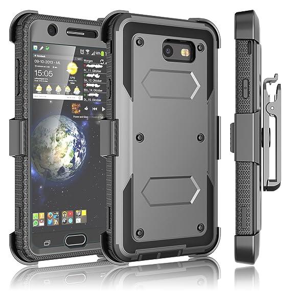 separation shoes 530a9 927cd Tekcoo Galaxy J7 Sky Pro Case, Tekcoo Galaxy J7 V/J7V/J7 Perx Holster Clip,  [TShell] [Built-in Screen] Locking Secure Swivel Belt Kickstand Phone ...
