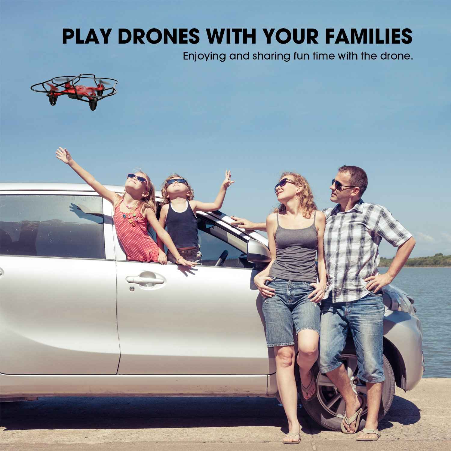 TEC.BEAN Mini Drone for Beginners Hovering Quadcopter with Altitude Hold Mode One Key Take Off Landing Return Home Entry Level for Kids by TEC.BEAN (Image #8)