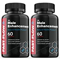 (2 Pack) Fast Flow Male Supplement Male Enhancment Pills (120 Capsules)
