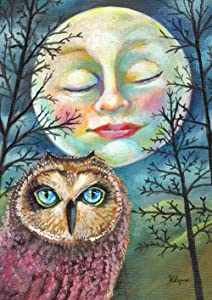 Toland Home Garden 1112493 Moonlit Owl 12.5 x 18 Inch Decorative, Garden Flag